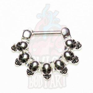 piercing septo caveiras clicker Multi Bones, para furos de septo