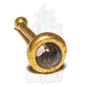 Piercing Nariz Pedra Ametista Bronze, para furos nostril.