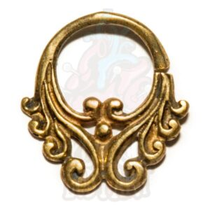 Piercing septo bronze Dara, para furos de septo.