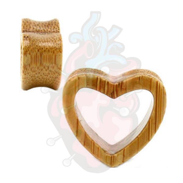 alargador de madeira coração vazado, disponível em par, dois alargadores.